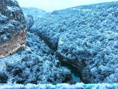 Vistas nevadas del Ventano del Diablo